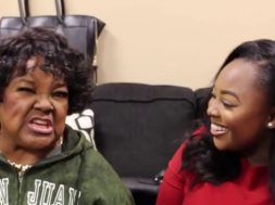 Jekalyn Carr doing the U NAME IT challenge with Shirley Caesar