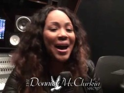 Erica Campbell & Tye Tribbett with a Happy Birthday to Donnie