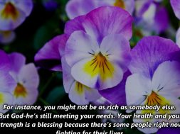 Recognizing your Blessings