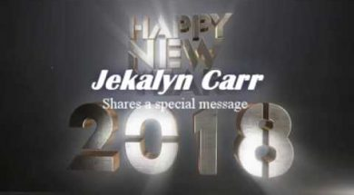 Jekalyn Carr with a special message for 2018