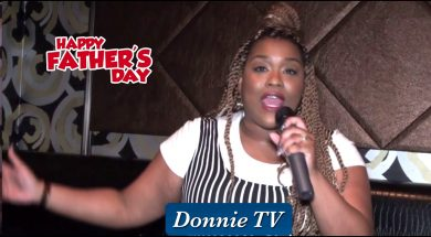 Ruth La'Ontra giving a joyful Father's Day shout out