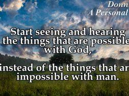 Eyes and Ears of Faith