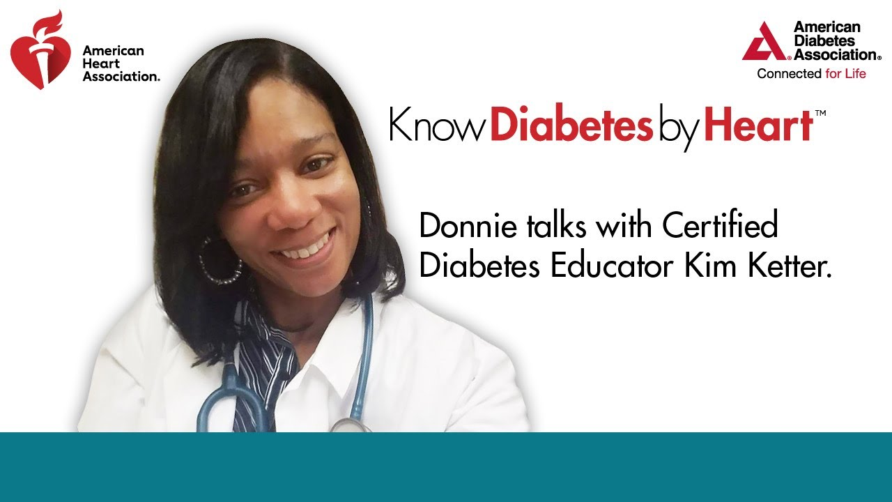 Donnie talks with Certified Diabetes Educator Kim Ketter